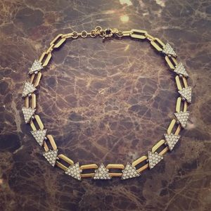 J Crew Pave Triangle Necklace